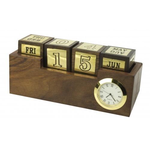 Nautische klok met kalender ideeplus for Bureau kalender